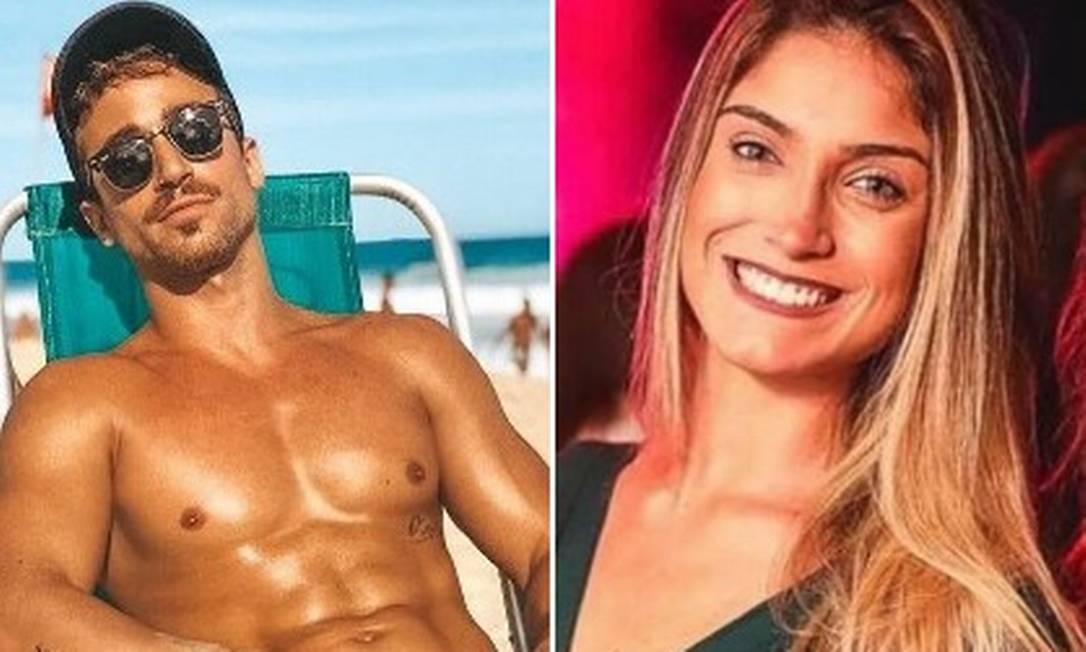 Mateus Correia Viana e Nathalia Guzzardi Marques, achados mortos em box de banheiro no Leblon Foto: Reprodução