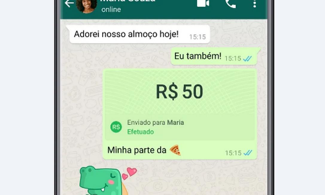 WhatsApp permite transferência bancária para usuários no Brasil Foto: WhatsApp / Reprodução