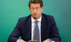 Ricardo Salles deixou o Ministério do Meio Ambiente Foto: SERGIO LIMA/AFP / SERGIO LIMA/AFP