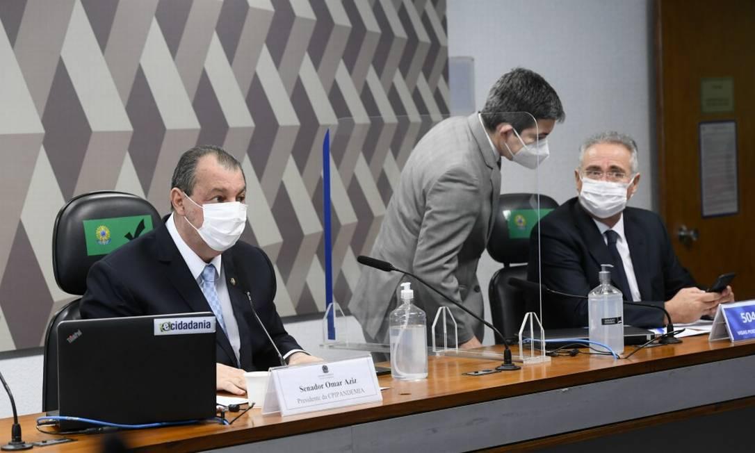 Cúpula da CPI da Covid Foto: Marcos Oliveira / Agência Senado