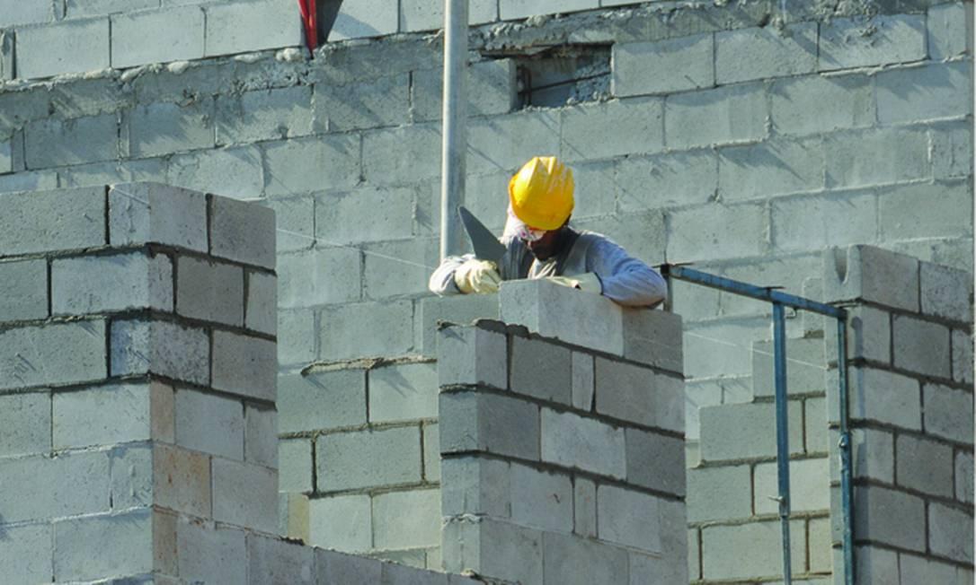 Blocos de concreto ajudam a reduzir despesas com acabamentos Foto: Agência O Globo