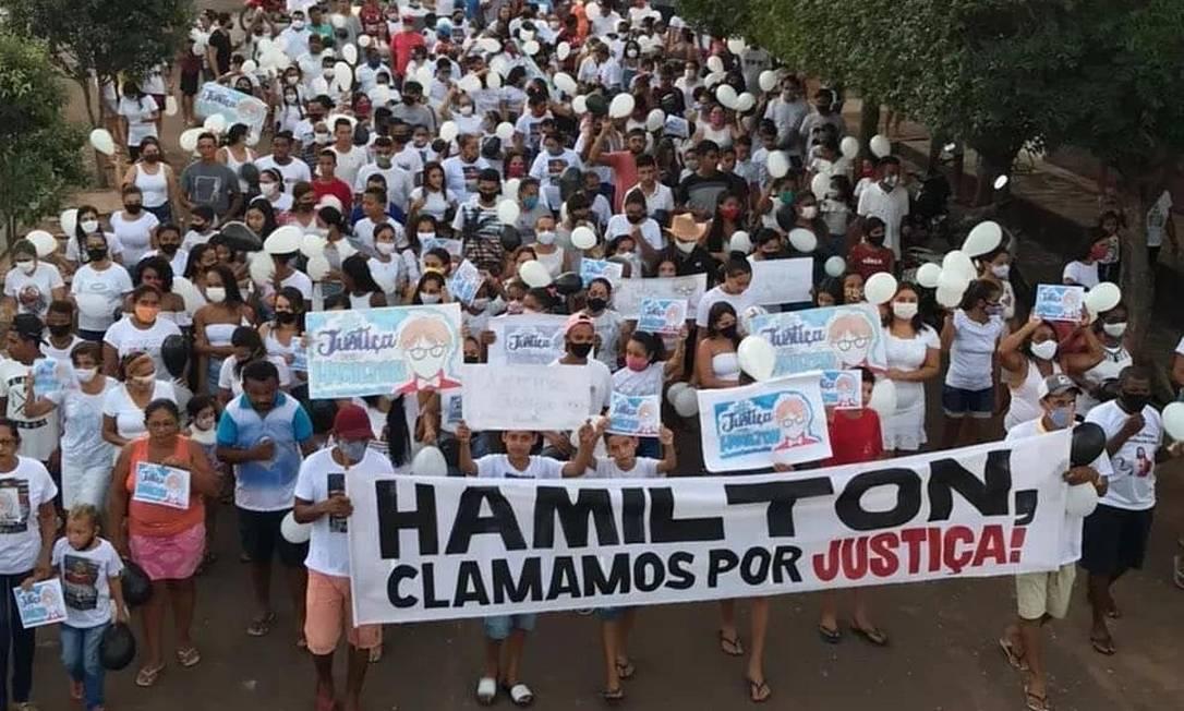 Moradores de Presidente Dutra (MA) pedem justiça pela morte de Hamilton Cesar Lima Bandeira Foto: Reprodução / Redes sociais