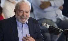 O ex-presidente Luiz Inácio Lula da Silva em pronunciamento no Sindicato dos Metalurgicos do ABC 10/03/2021 Foto: Edilson Dantas / Agência O Globo