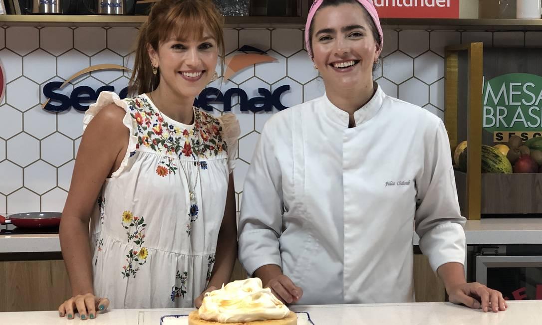 Jade e Julia Chaloub: mais uma aula no Rio Gastronomia Foto: Reprodução