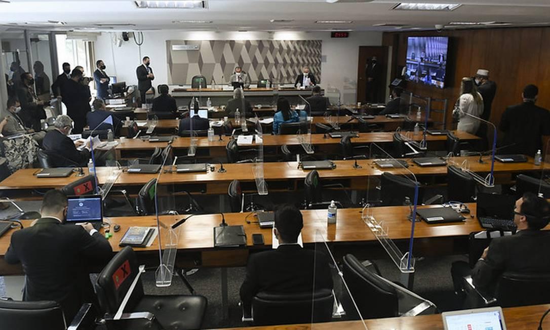 Sessão da CPI da Covid 24/06/2021 Foto: Jefferson Rudy/Agência Senado