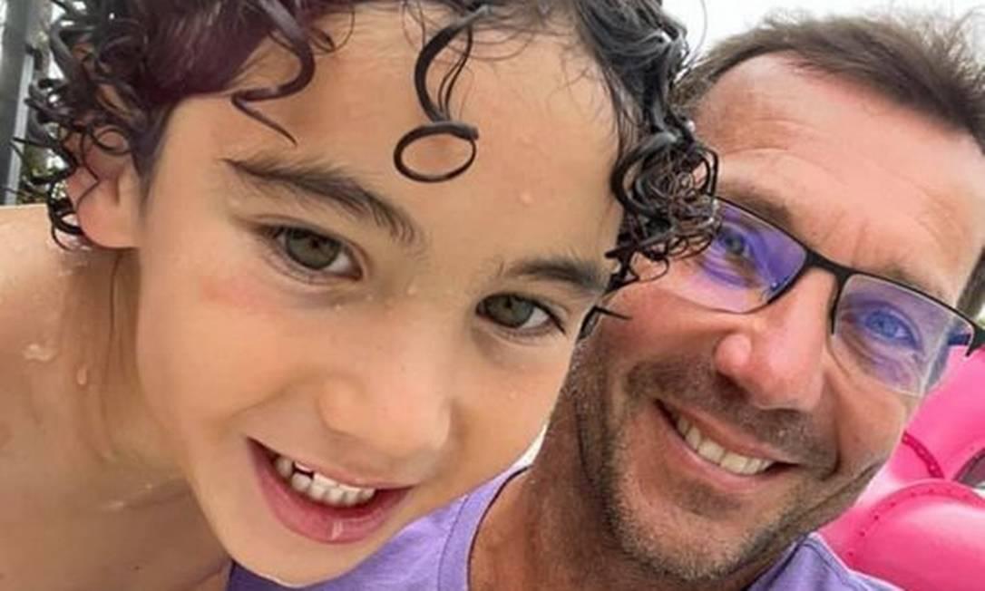 Lorenzo e seu pai, Alfredo: desparecidos após desabamento de prédio em Miami Foto: Reprodução