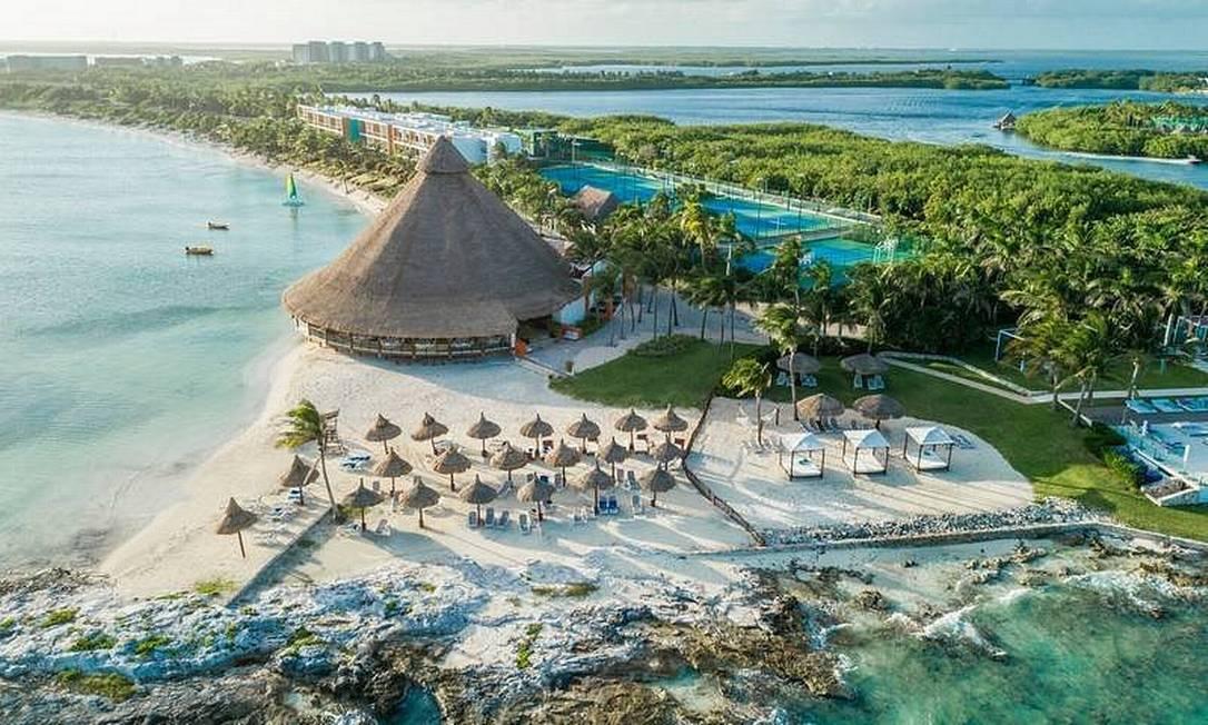 Vista aérea do Club Med Cancún, no México Foto: Reprodução