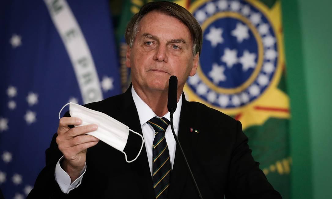 O presidente Jair Bolsonaro disse que não irá se vacinar Foto: Pablo Jacob / Agência O Globo