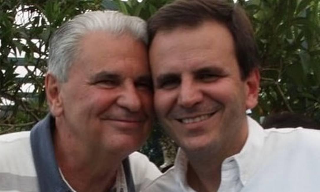 O prefeito do Rio, Eduardo Paes, publica homenagem ao pai nas redes sociais Foto: Instagram / Reprodução