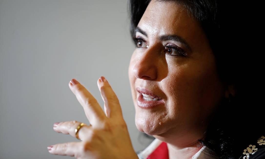 """A senadora Simone Tebet diz ter percebido que """"não faltava muito"""" para Luis Miranda revelar nome de deputado Foto: Agência O Globo/Cristiano Mariz"""