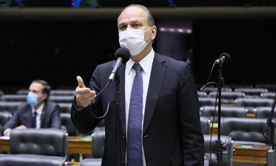 O deputado Ricardo Barros foi acusado de pressionar pela assinatura do contrato com a Covaxin Foto: Agência O Globo