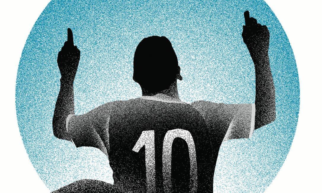 Evangélicos dominam elite do futebol e os poucos jogadores que não rezam pela cartilha sofrem racismo religioso Foto: Editoria de Arte