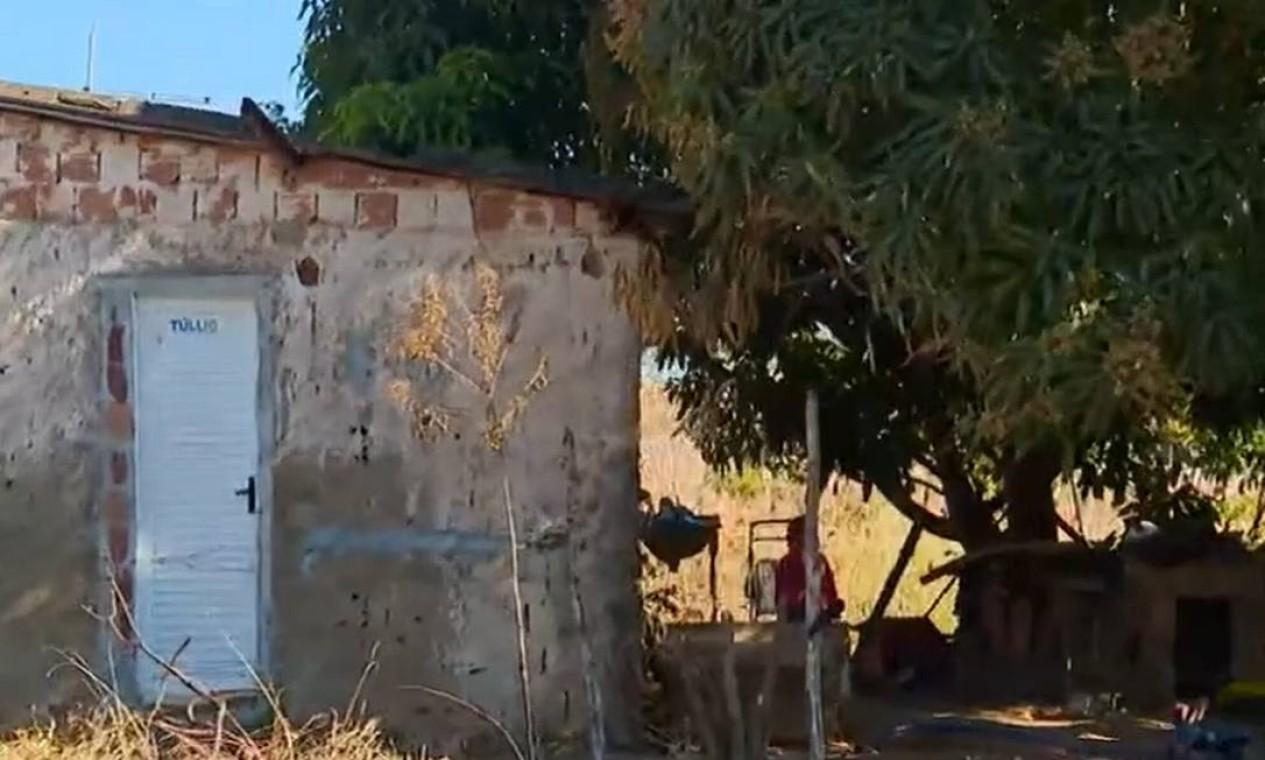 Casa em área rural na região de Itamaracá, em Águas Lindas de Goiás, onde Lázaro foi encontrado pela polícia e morto durante troca de tiros Foto: Reprodução
