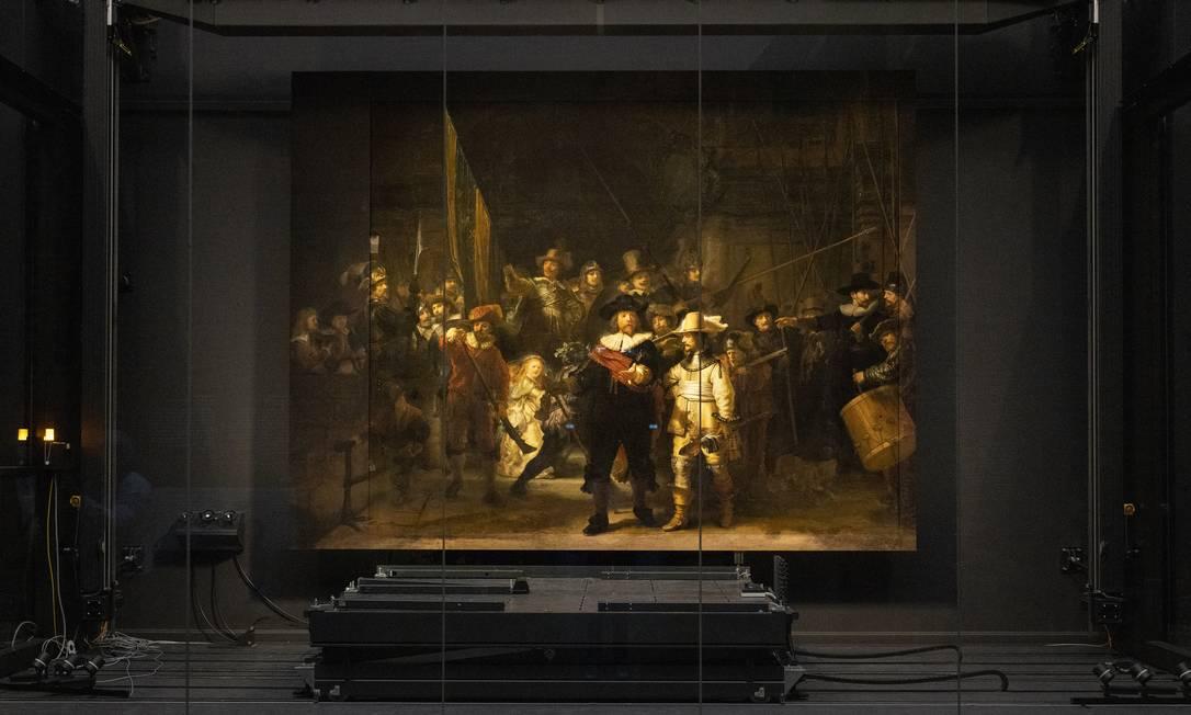 Quadro de Rembrandt reconstruído com inteligência artificial Foto: ILVY NJIOKIKTJIEN / NYT