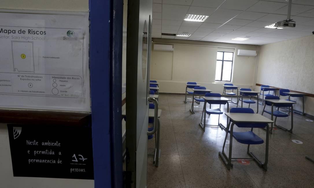 Sala de aula vazia Foto: Fabiano Rocha / Agência O Globo