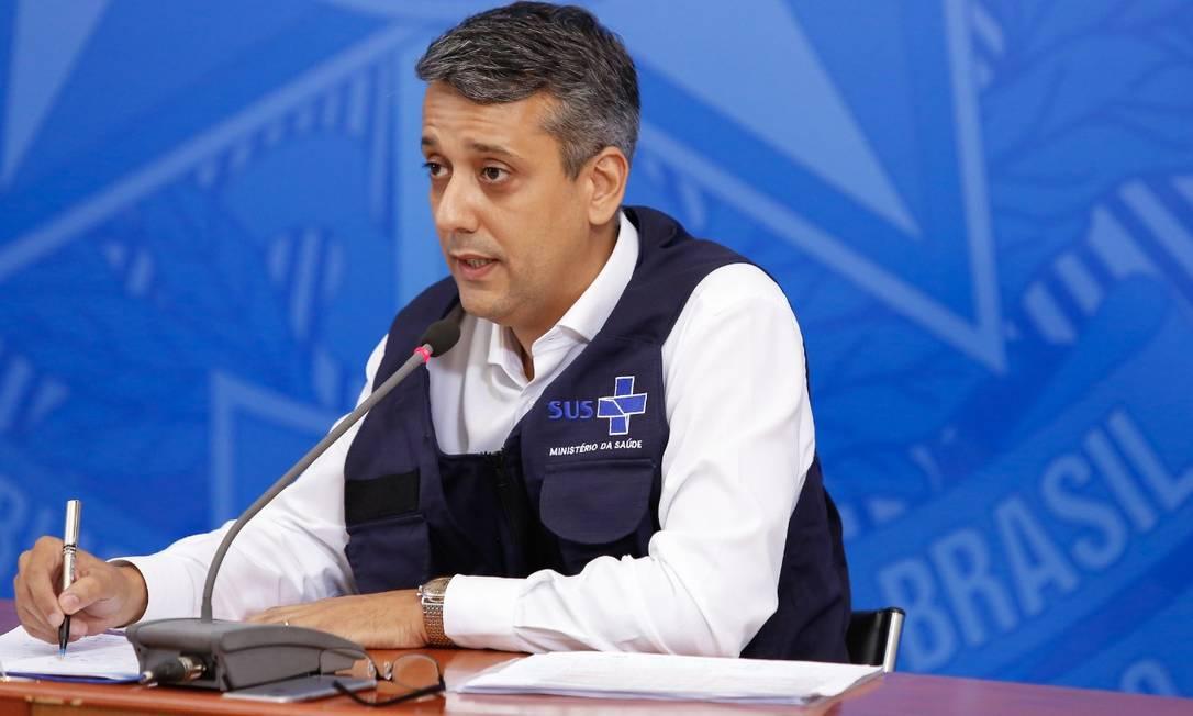 Diretor de Logística em Saúde do Ministério da Saúde Foto: Anderson Riedel/PR