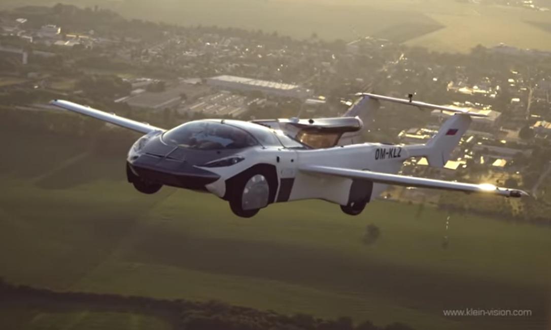 Batizado de AirCar, híbrido entre avião e carro pode percorrer distância de até mil quilômetros Foto: Reprodução/Divulgação/KleinVision
