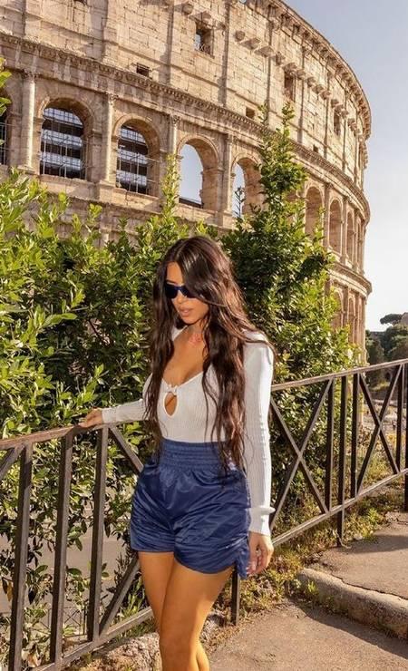 Kim Kardashian em Roma Foto: Reprodução/Instagram