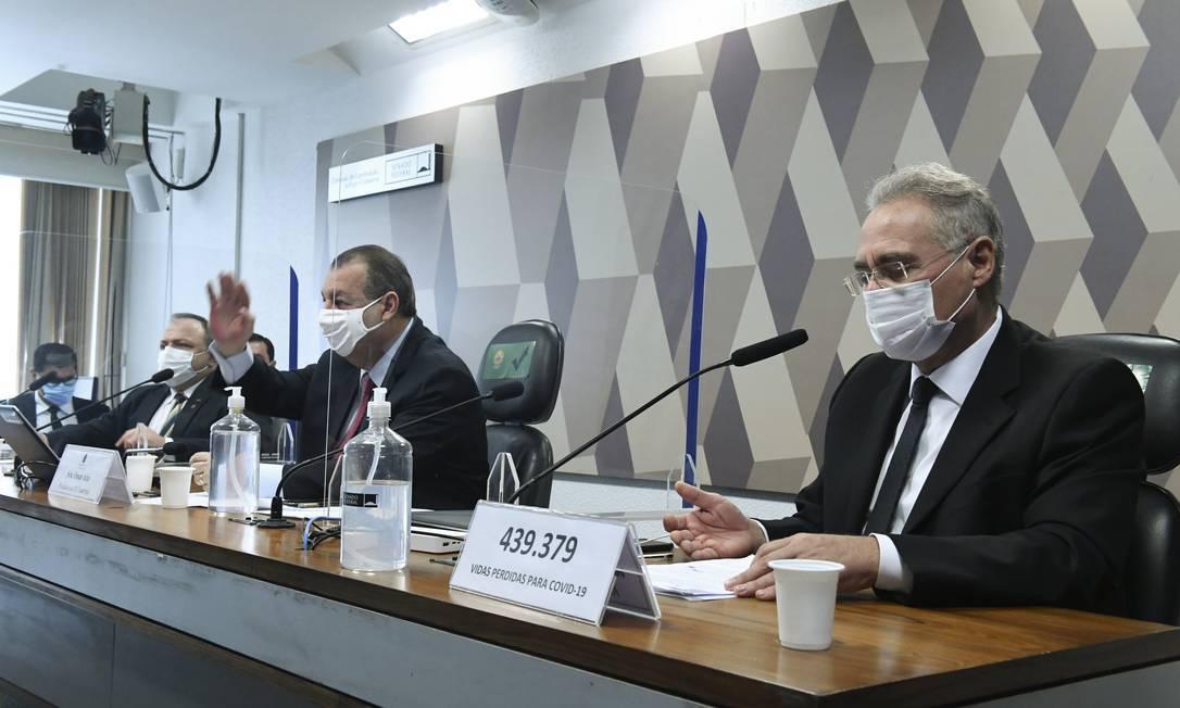 Sessão da CPI da Covid Foto: Agência O Globo