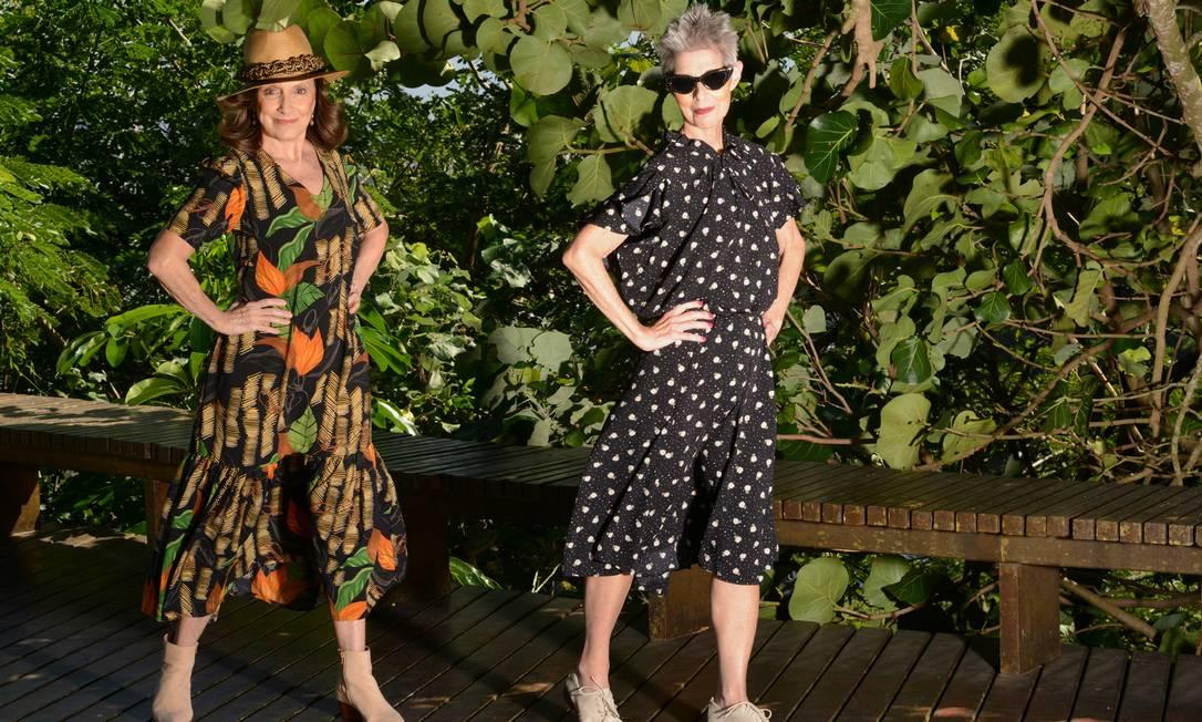 Nora Esteves (à esquerda) e Roberta Ribeiro para a marca Sithonia Foto: Divulgação/Deyse Krieger