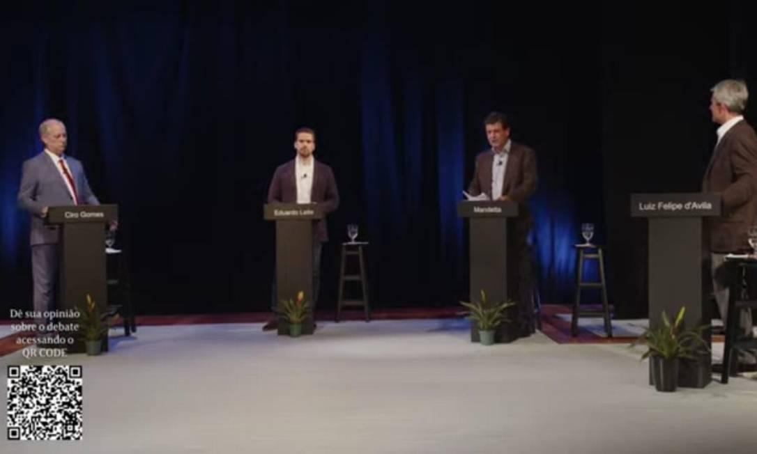 Pré-candidatos participam de debate em evento promovido pelo jornal O Estado de S.Paulo Foto: Reprodução / Reprodução