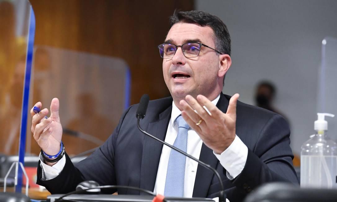 Senador Flávio Bolsonaro Foto: Waldemir Barreto / Agência Senado