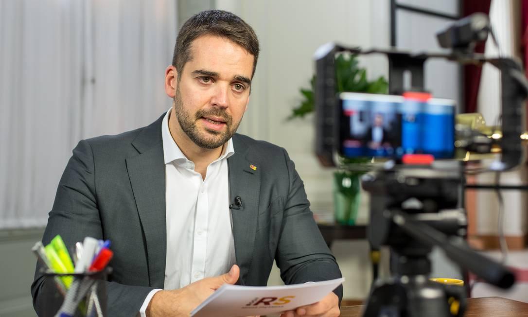 O governador do RS, Eduardo Leite Foto: Gustavo Mansur / Palácio Piratini / 14-05-2020