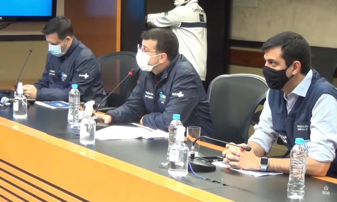 Prefeitura do Rio apresenta balanço da pandemia no 26º boletim epidemiológico Foto: Prefeitura do Rio / YouTube / Reprodução
