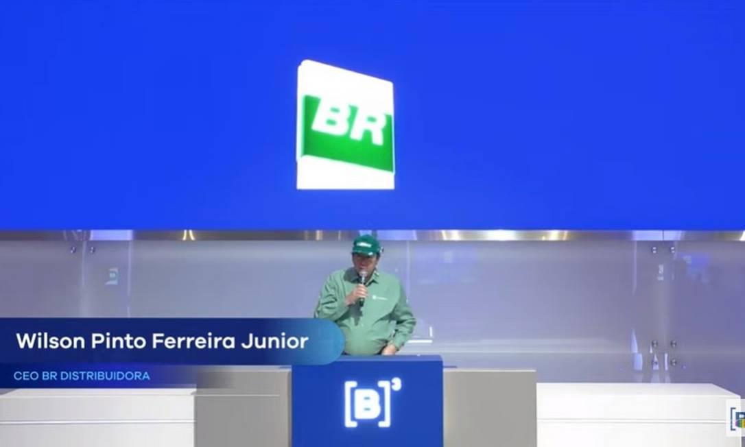 Wilson Ferreira, presidente da BR, participa de evento na B3 Foto: Reprodução/Bruno Rosa