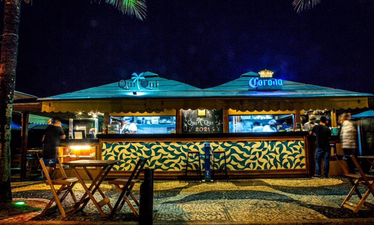 O quiosque QuiQui, na Praia de São Conrado Foto: Divulgação