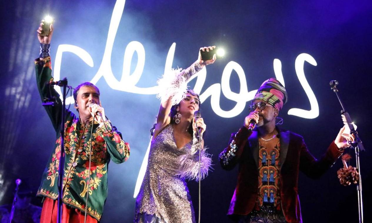 Show de Os Tribalistas, com Arnaldo Antunes, Marisa Monte e Carlinhos Brown Foto: Leo Aversa