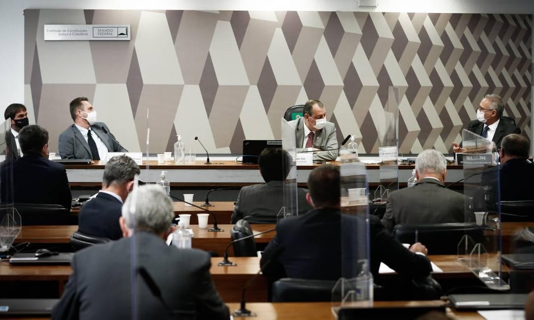 CPI da Covid no Senado Foto: Pablo Jacob / Agência O Globo