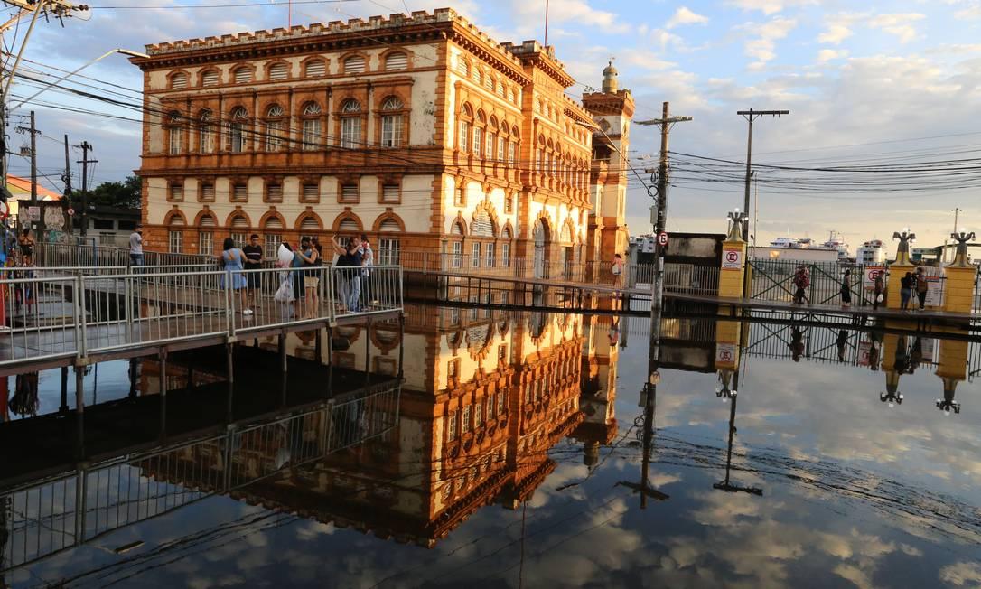 La zona centrale di Manaus, vicino al porto, è stata allagata Foto: Agência O Globo