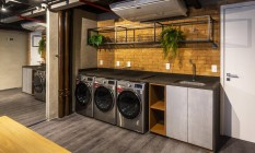 Lavanderia. Na área de convivência,as máquinas de lavar roupa atendem as 80 unidades do empreendimento Foto: ZIEGEL MEYER/OPPORTUNITY/DIVULGAÇÃO