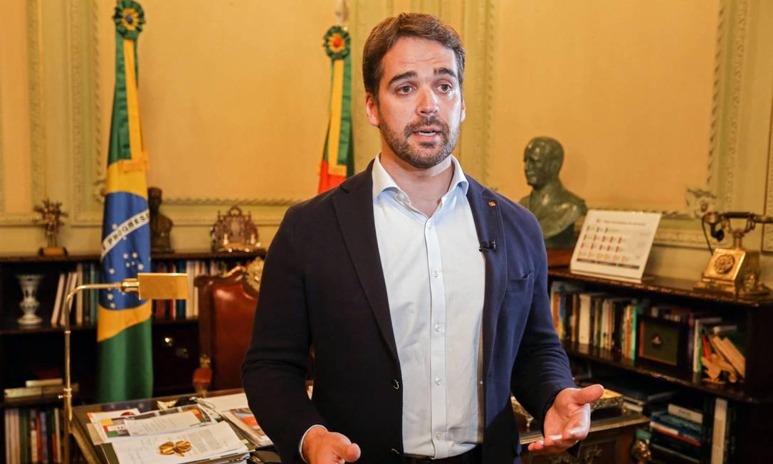 Governador do Rio Grande do Sul, Eduardo Leite (PSDB): tucano ganhou impulso nas redes após se assumir publicamente gay: analista diz que ação passa 'credibilidade' Foto: FELIPE DELLA VALLE / AFP