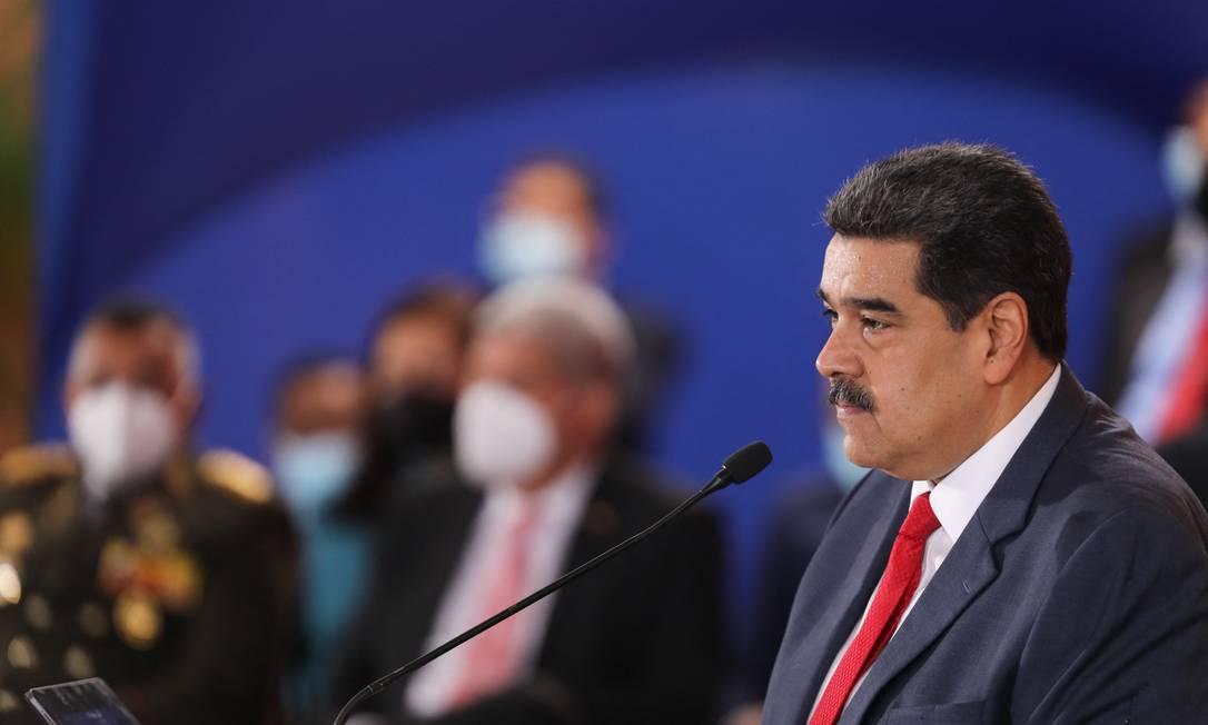 O presidente da Venezuela, Nicolás Maduro Foto: MARCELO GARCIA / AFP/24-06-2021