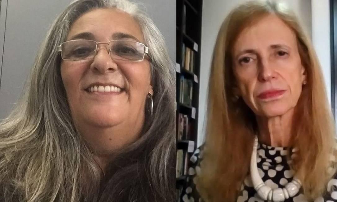 A futura diretora Mariza Werneck e a professora Claudia Costin Foto: Reprodução