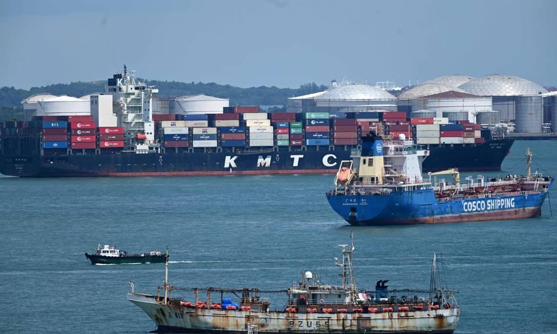 Preços do transporte marítimo aumentaram durante a pandemia da Covid-19. Foto: ROSLAN RAHMAN / AFP