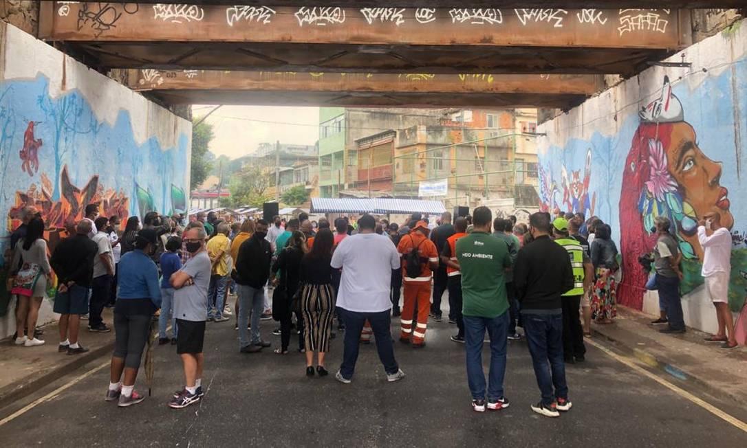Evento de inauguração teve feira de artesanatos e gastronomia local neste sábado Foto: Maria Isabel Oliveira / Agência O Globo