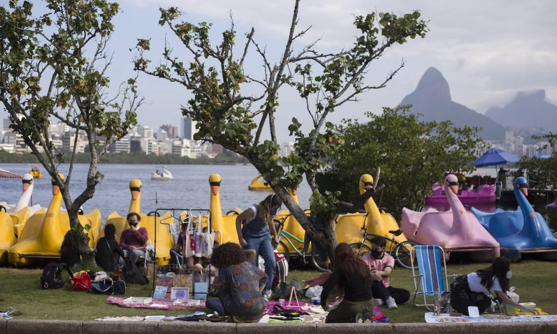 Sol do inverno na Zona Sul do Rio de Janeiro, em 04 de julho de 2021 Foto: Maria Isabel Oliveira / Agência O Globo