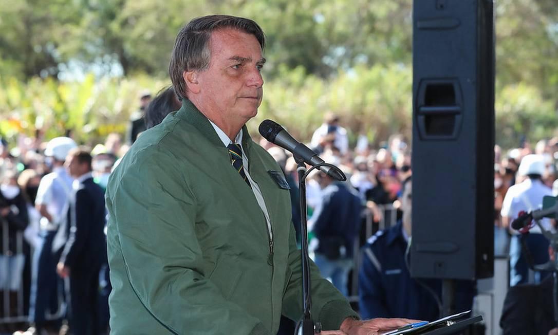 O presidente Jair Bolsonaro em evento no final do mês de junho Foto: Divulgação