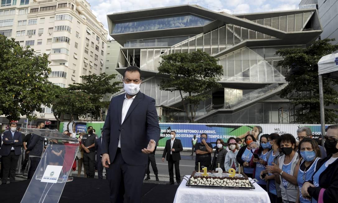 Cláudio Castro fez o anúncio no dia do aniversário do bairro Foto: Gabriel de Paiva / Agência O Globo