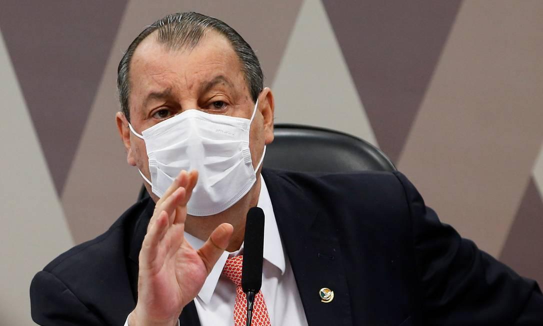 Presidente da CPI, Omar Aziz Foto: ADRIANO MACHADO / REUTERS