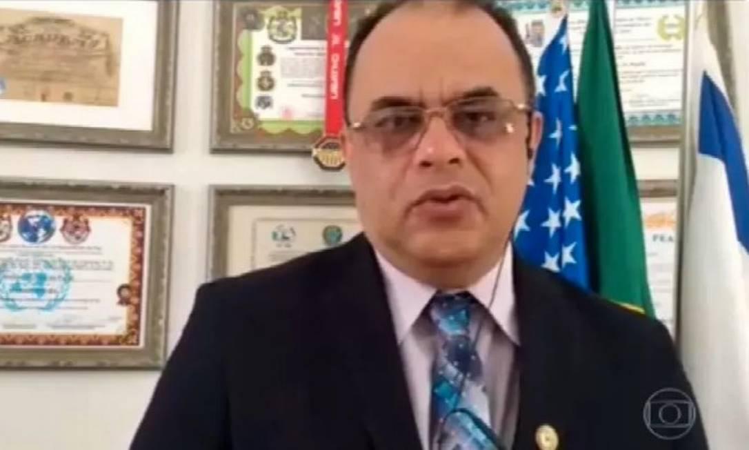 O reverendo Amilton Gomes de Paula foi autorizado pelo ministério a intermediar a venda de vacinas Foto: Reprodução