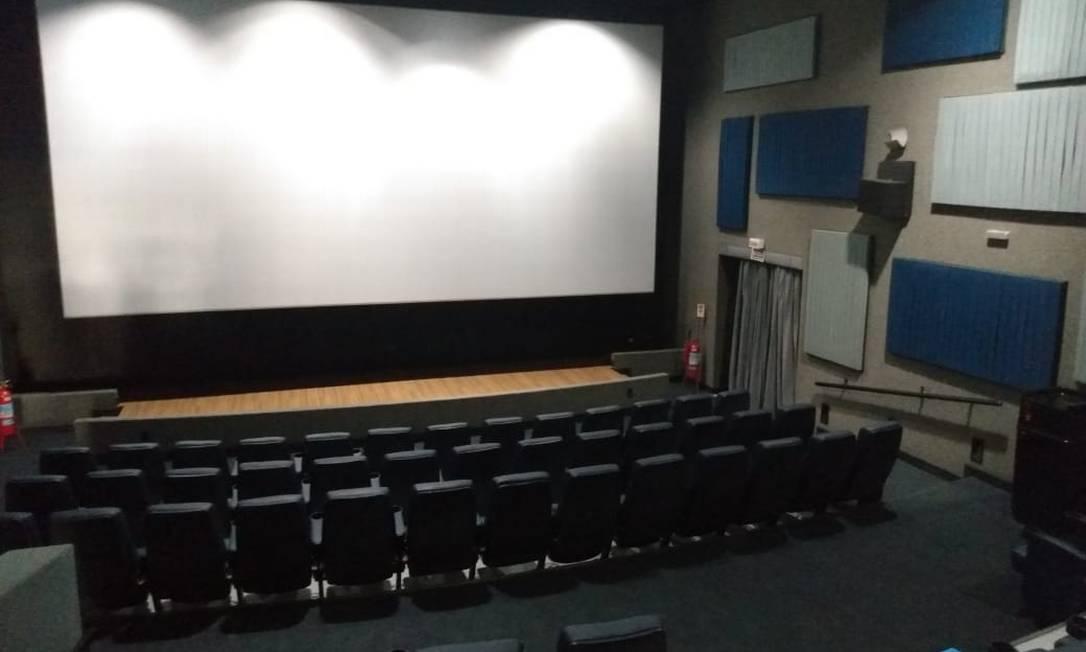 A sala de cinema do CineCarioca Nova Brasília, no Complexo do Alemão, vai reabrir as portas em setembro Foto: Divulgação / RioFilme