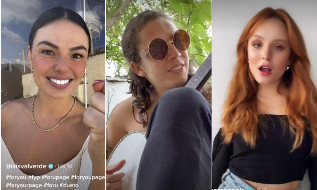 Isis Valverde,Whindersson e Larissa Manoela Foto: TikTok