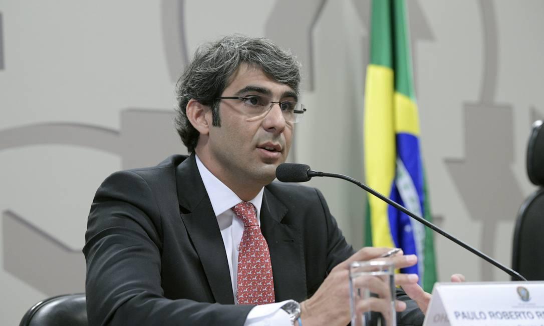Paulo Roberto Vanderlei Rebello Filho em sabatin no Senado, em 2018, para cargo de diretor da ANS Foto: Pedro França / Agência Senado