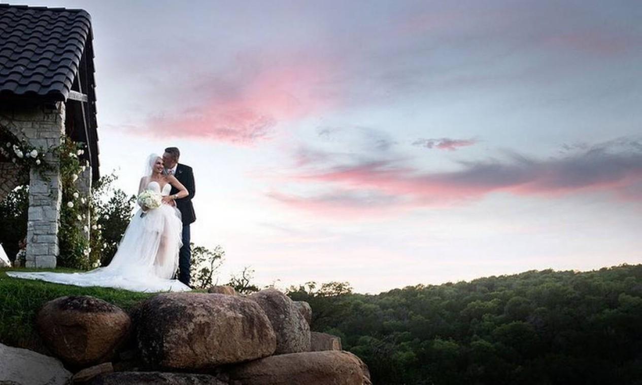 Casamento foi celebrado em rancho da família Foto: Reprodução/Instagram