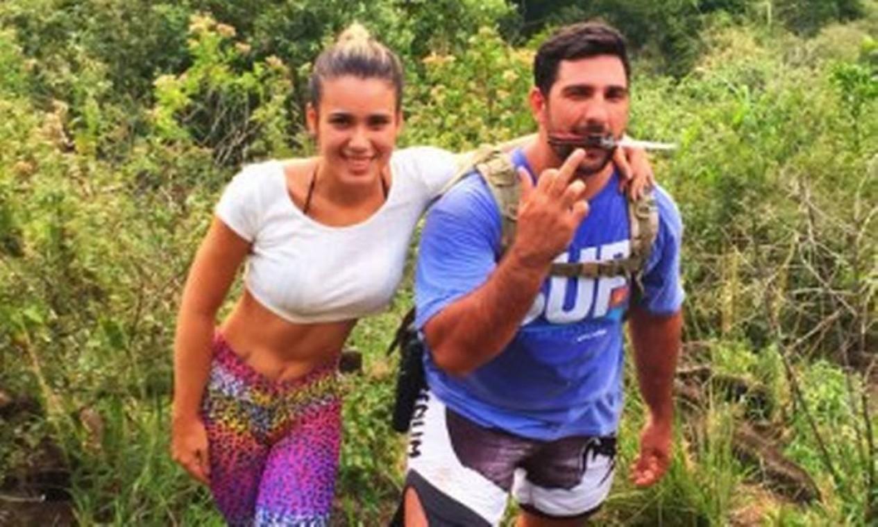 Júlia Lotufo e Adriano da Nóbrega em viagem Foto: Reprodução