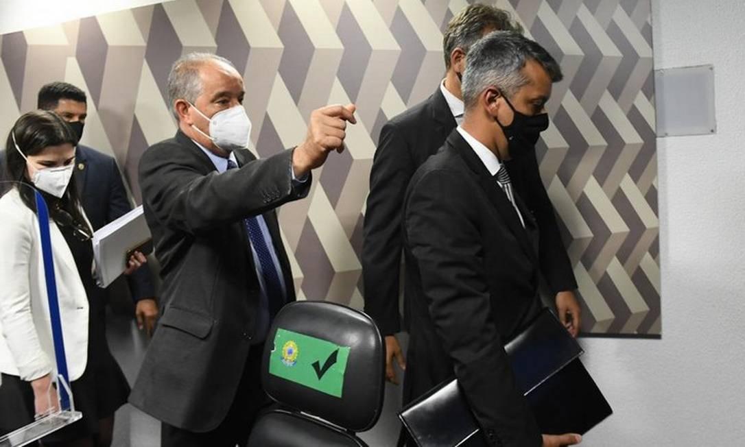 Ex-diretor do Departamento de Logística do Ministério da Saúde, Roberto Dias saiu preso da CPI da Covid Foto: Agência Senado